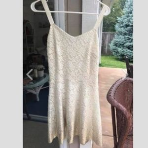 Free People - White lace dress with shimmer bottom